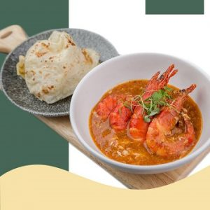 Singapore Chilli Prawn with Roti